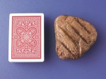Deck of cards with steak